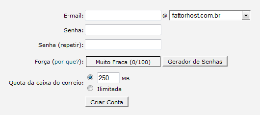 Conta de e-mail